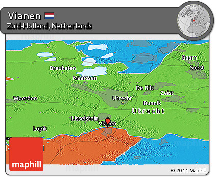 Free Political Panoramic Map of Vianen