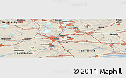 Shaded Relief Panoramic Map of Bunschoten