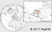 Blank Location Map of Arnhem