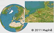 Satellite Location Map of Arnhem