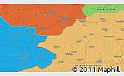 Political 3D Map of Enschede