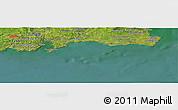 "Satellite Panoramic Map of the area around 52°6'54""N,6°43'29""W"