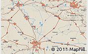 Shaded Relief Map of Rheine
