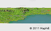 Satellite Panoramic Map of An Baile Nua