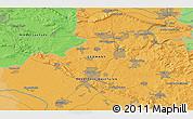Political 3D Map of Bielefeld