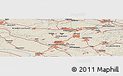 Shaded Relief Panoramic Map of Detmold