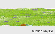 "Physical Panoramic Map of the area around 52° 6' 54"" N, 8° 25' 30"" W"