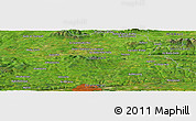 Satellite Panoramic Map of Ballindillanig