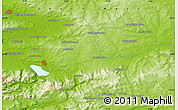 "Physical Map of the area around 52° 6' 54"" N, 9° 16' 30"" W"
