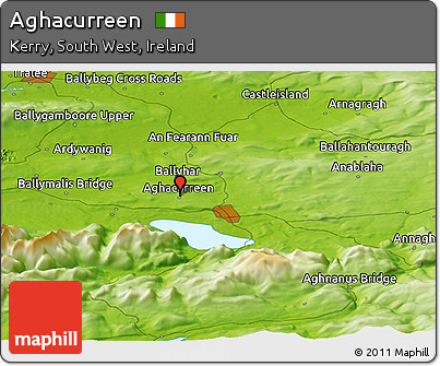 Physical Panoramic Map of Aghacurreen