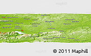 "Physical Panoramic Map of the area around 52° 6' 54"" N, 9° 16' 30"" W"