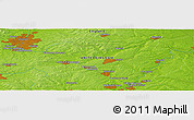 """Physical Panoramic Map of the area around 52°30'23""""N,0°46'30""""W"""