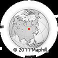 Outline Map of Irkutsk, rectangular outline