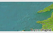 """Satellite 3D Map of the area around 52°30'23""""N,10°7'30""""W"""