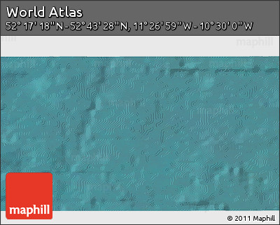 """Satellite 3D Map of the Area around 52°30'23""""N,10°58'29""""W"""