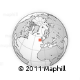 """Outline Map of the Area around 52° 30' 23"""" N, 10° 58' 29"""" W, rectangular outline"""