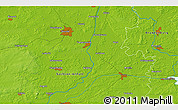 """Physical 3D Map of the area around 52°30'23""""N,11°58'29""""E"""