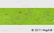 """Physical Panoramic Map of the area around 52°30'23""""N,11°58'29""""E"""