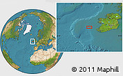 """Satellite Location Map of the area around 52°30'23""""N,11°49'29""""W"""