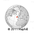 """Outline Map of the Area around 52° 30' 23"""" N, 11° 49' 29"""" W, rectangular outline"""