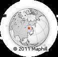 Outline Map of Tahe, rectangular outline