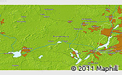 """Physical 3D Map of the area around 52°30'23""""N,12°49'29""""E"""