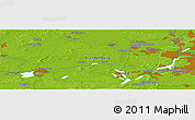 Physical Panoramic Map of Potsdam