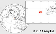 """Blank Location Map of the area around 52°30'23""""N,12°40'30""""W"""