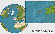 """Satellite Location Map of the area around 52°30'23""""N,12°40'30""""W"""
