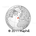 """Outline Map of the Area around 52° 30' 23"""" N, 12° 40' 30"""" W, rectangular outline"""