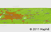 """Physical Panoramic Map of the area around 52°30'23""""N,13°40'30""""E"""