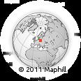 Outline Map of Poznań, rectangular outline