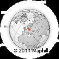 Outline Map of Slesin, rectangular outline