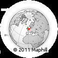 Outline Map of Harleston, rectangular outline