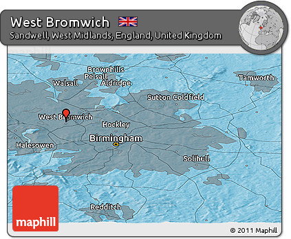 Free Political Panoramic Map of West Bromwich
