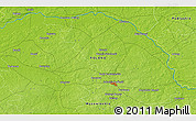 """Physical 3D Map of the area around 52°30'23""""N,22°10'29""""E"""