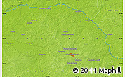 """Physical Map of the area around 52°30'23""""N,22°10'29""""E"""