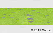 """Physical Panoramic Map of the area around 52°30'23""""N,22°10'29""""E"""