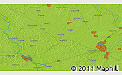 """Physical 3D Map of the area around 52°30'23""""N,30°40'29""""E"""