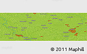 """Physical Panoramic Map of the area around 52°30'23""""N,30°40'29""""E"""