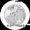 Outline Map of Lipetsk, rectangular outline