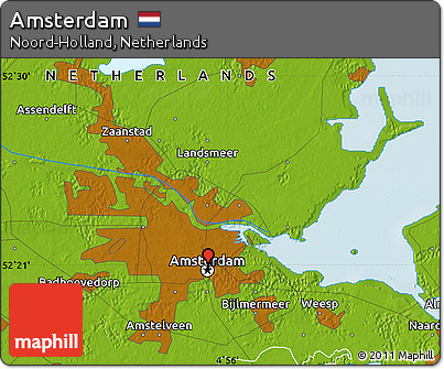 Free physical map of amsterdam physical map of amsterdam physical map of amsterdam sciox Images
