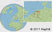 Savanna Style Location Map of Zwolle