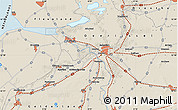 Shaded Relief Map of Zwolle