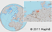 Gray Location Map of Arriërveld