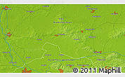 """Physical 3D Map of the area around 52°30'23""""N,7°43'29""""E"""