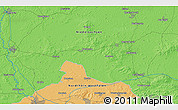 """Political 3D Map of the area around 52°30'23""""N,7°43'29""""E"""