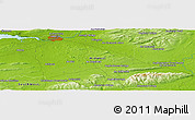 "Physical Panoramic Map of the area around 52° 30' 23"" N, 8° 25' 30"" W"