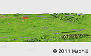 Satellite Panoramic Map of Abington