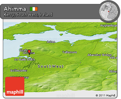 Physical Panoramic Map of Ahimma